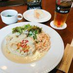 ランチパスポート 神戸 12 グリルポークのフリカッセクリームソース モズライトカフェ 激旨必食