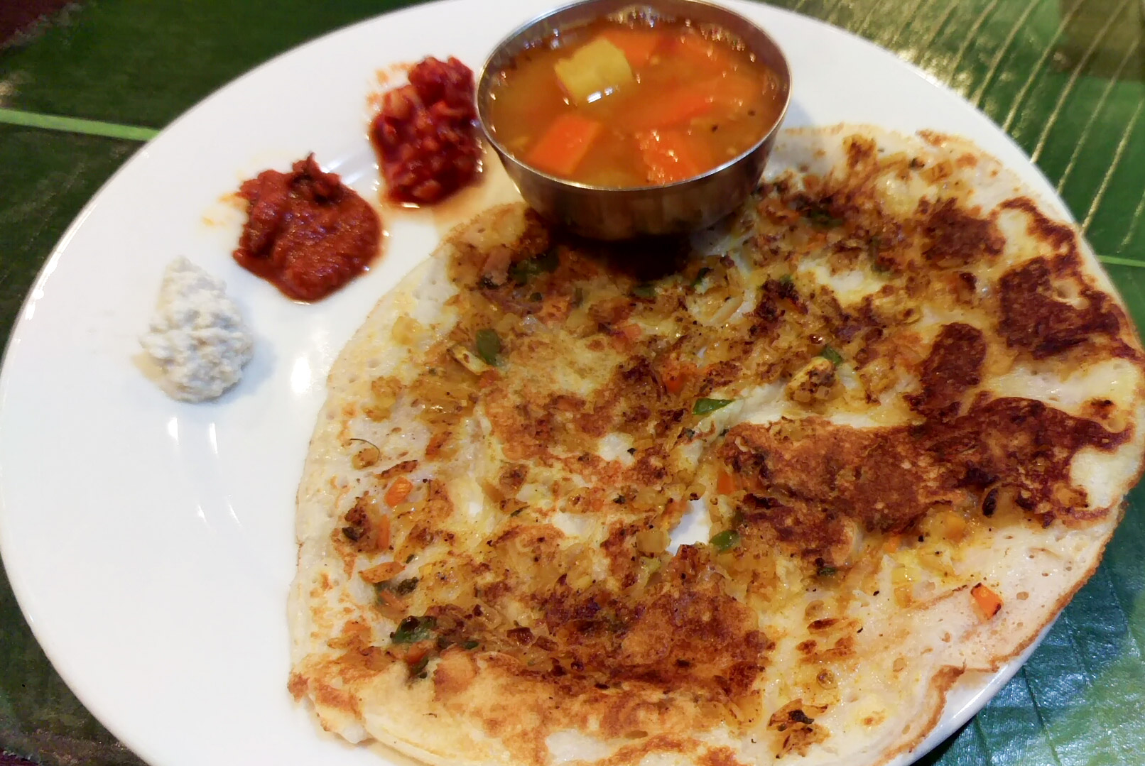 マサラウタパム。チヂミのような食べ物