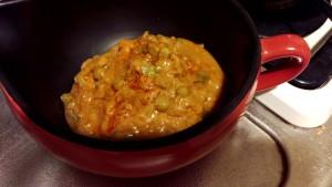 レンジ用カレー鍋で5分加熱