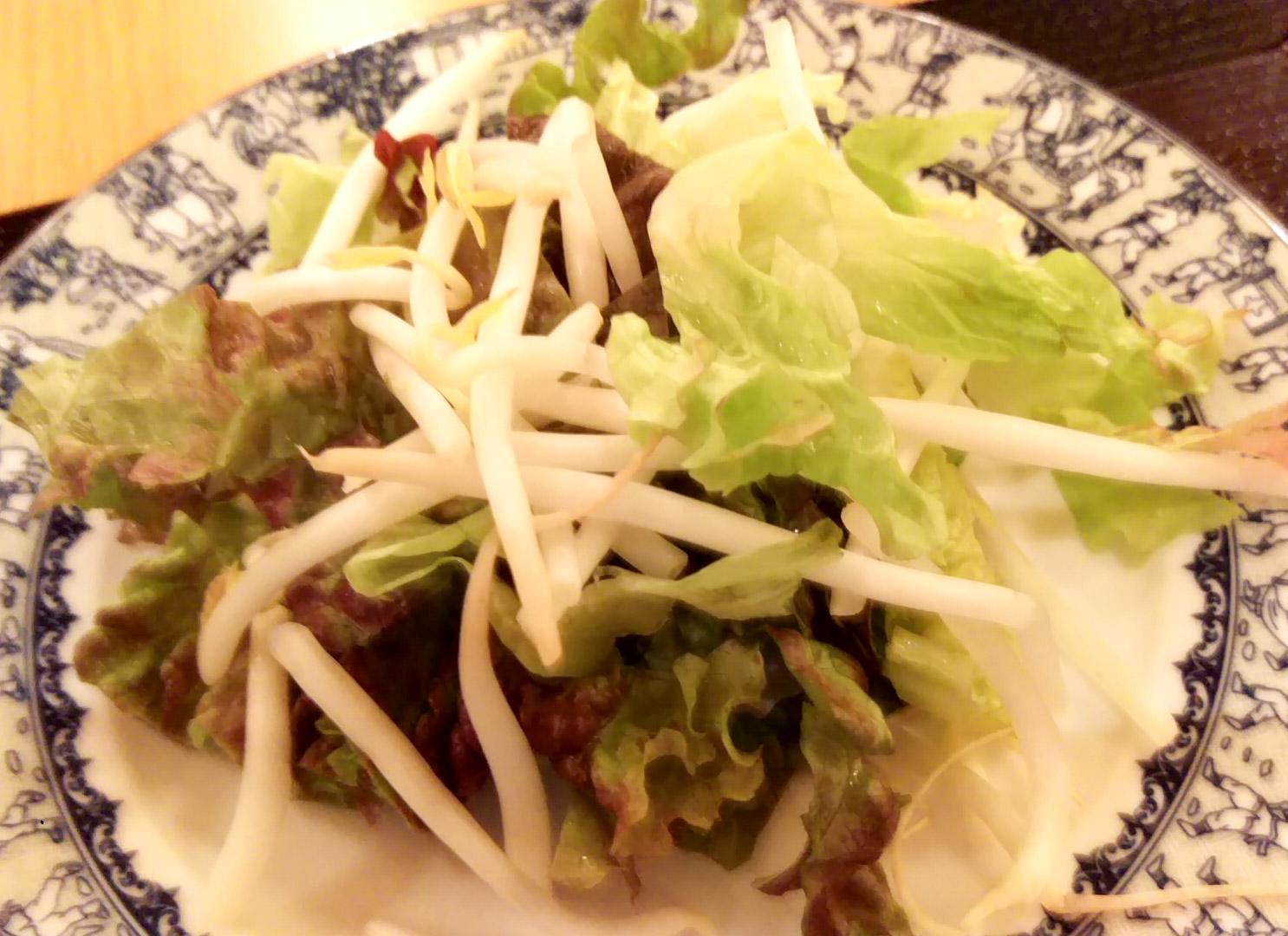 後から載せる野菜。サニーレタスとモヤシとレタスと…レモングラス?パクチーはなかった模様