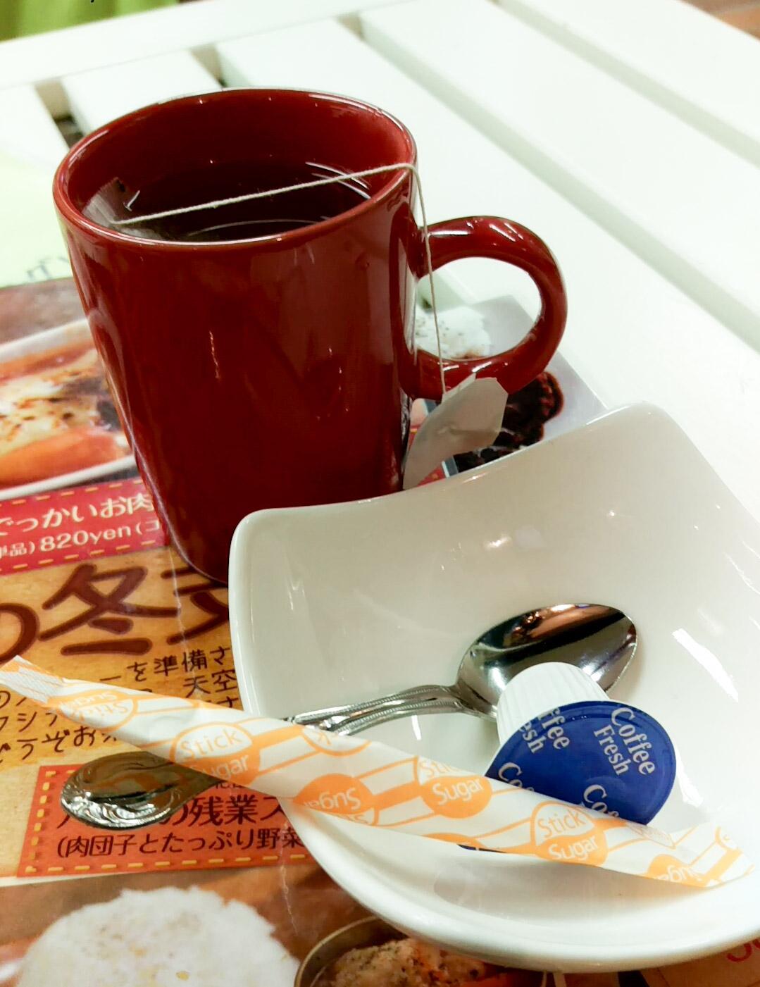 先に紅茶が運ばれてきた アールグレイの良い香りがたまらない!