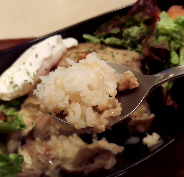 玄米ご飯。味はついていない