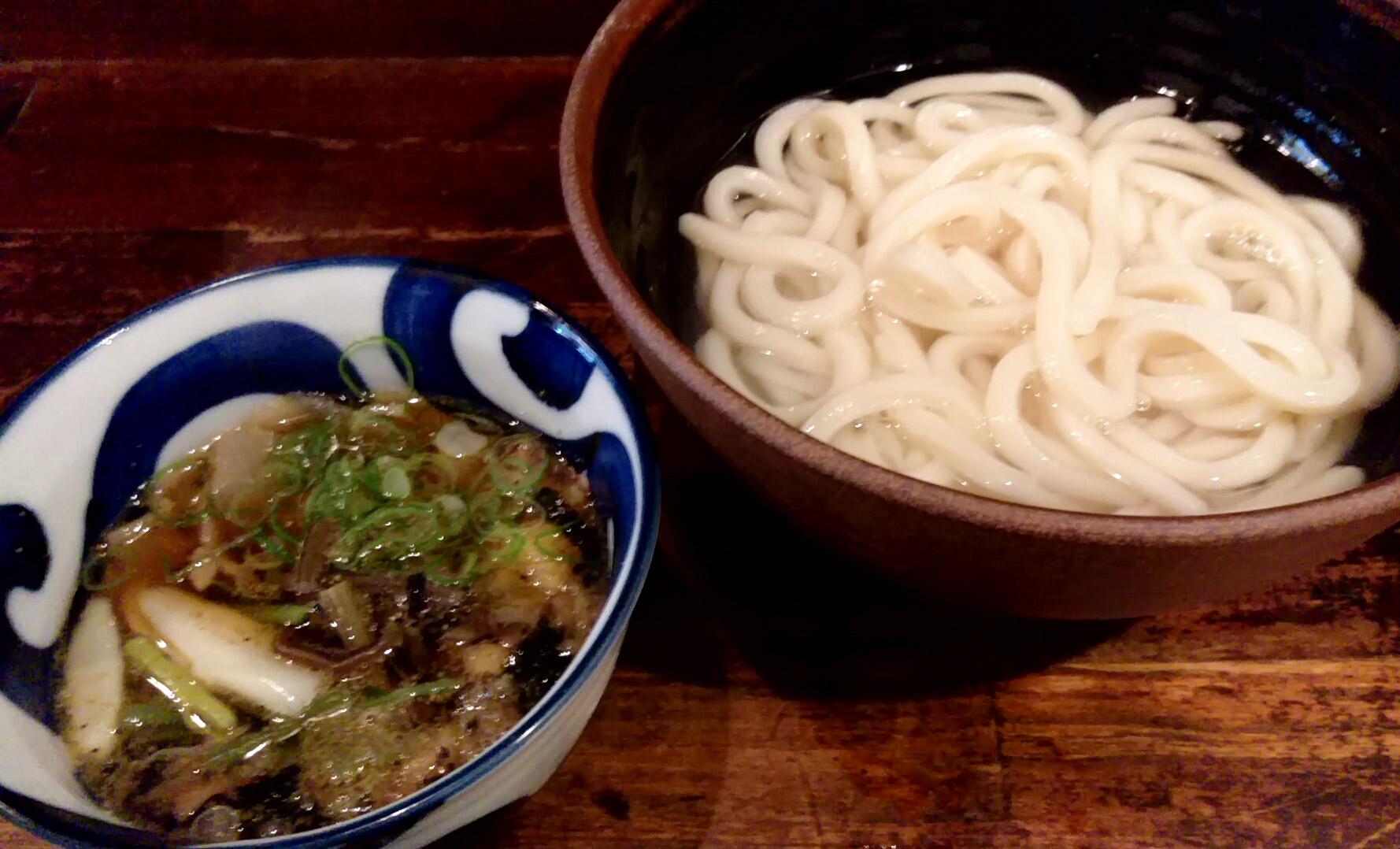 山菜肉汁うどん(あつあつ)@喰らうどんさん
