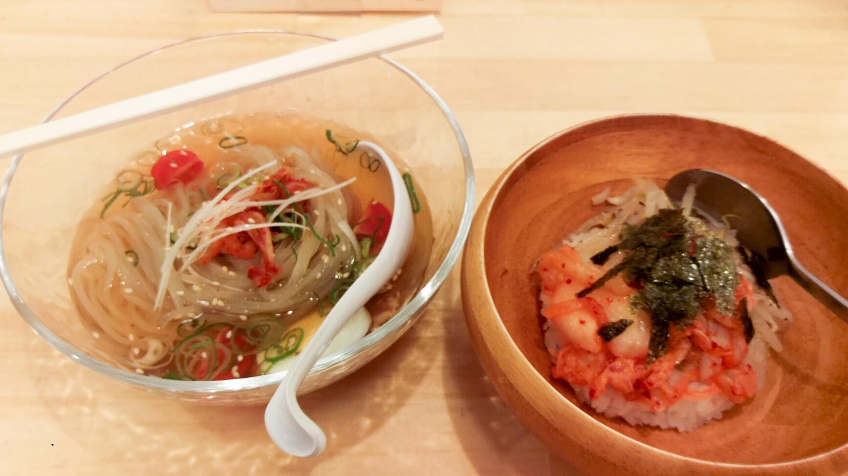 明太ナムル丼と半玉冷麺のセット@美伸さん