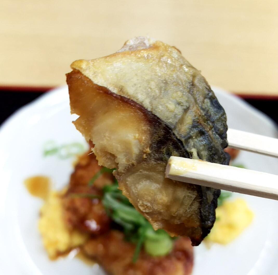 こちらはおばんさいのサバの竜田揚げ 冷めても美味!お弁当の美味しいおかずの味